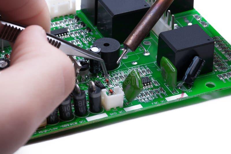 Elektronicznego technika praca obraz stock