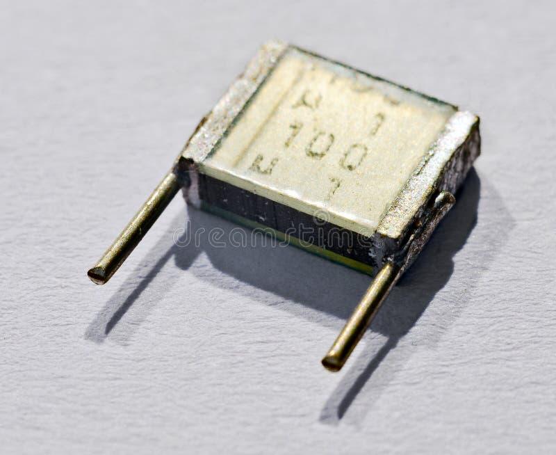 Elektronicznej części capacitor fotografia stock