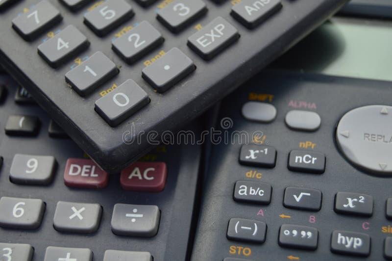 elektroniczni naukowi kalkulatorów tła zdjęcia stock
