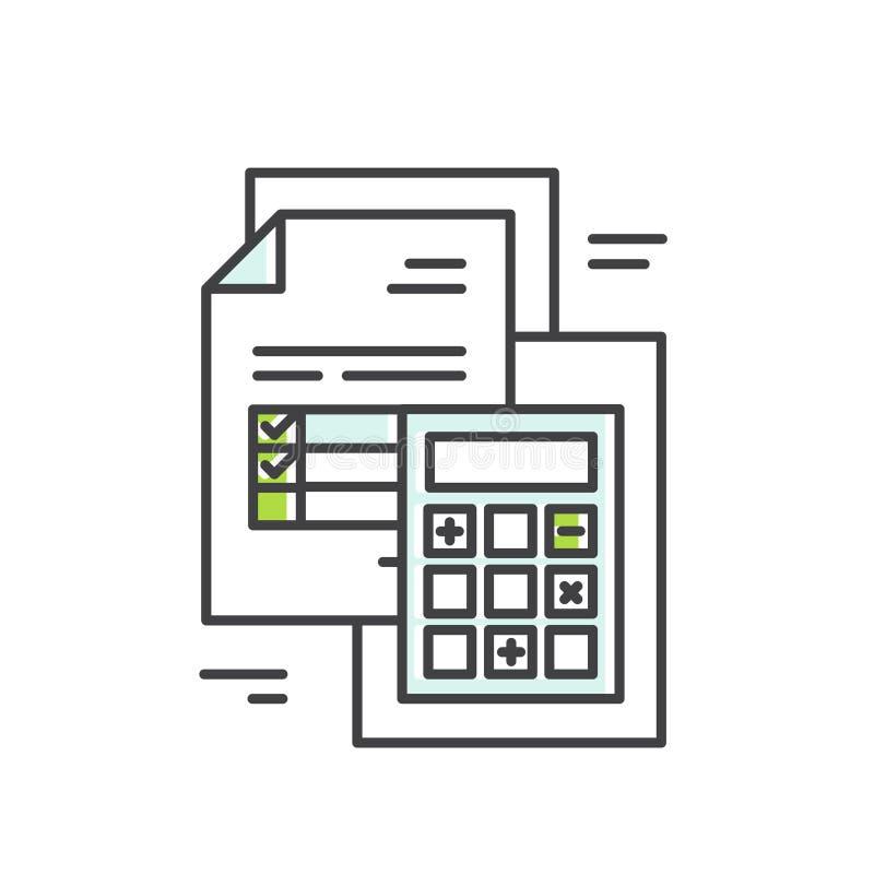 Elektroniczny faktury poczta papier Inbox, Mobilna Netbank zapłata ilustracji