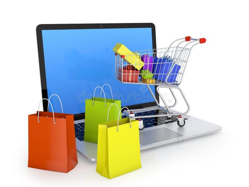 Elektroniczny handel royalty ilustracja