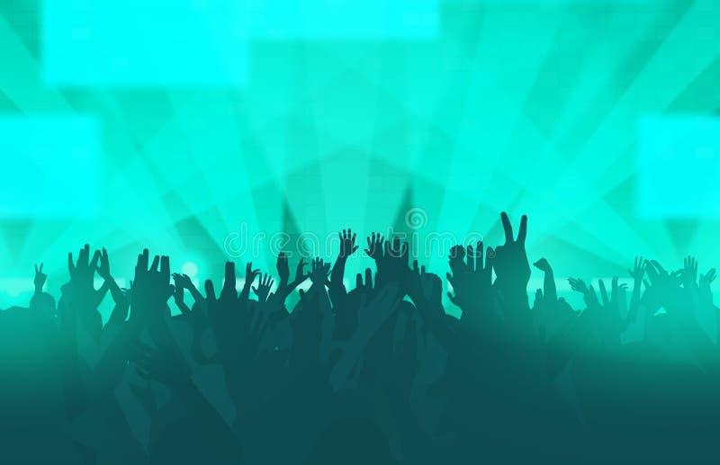 Elektroniczny muzyka taneczna festiwal z tanów ludźmi royalty ilustracja