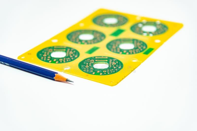Elektroniczny produktu projekta pojęcie, drukowany obwodu board& x28; PCB& x29; inc obraz stock
