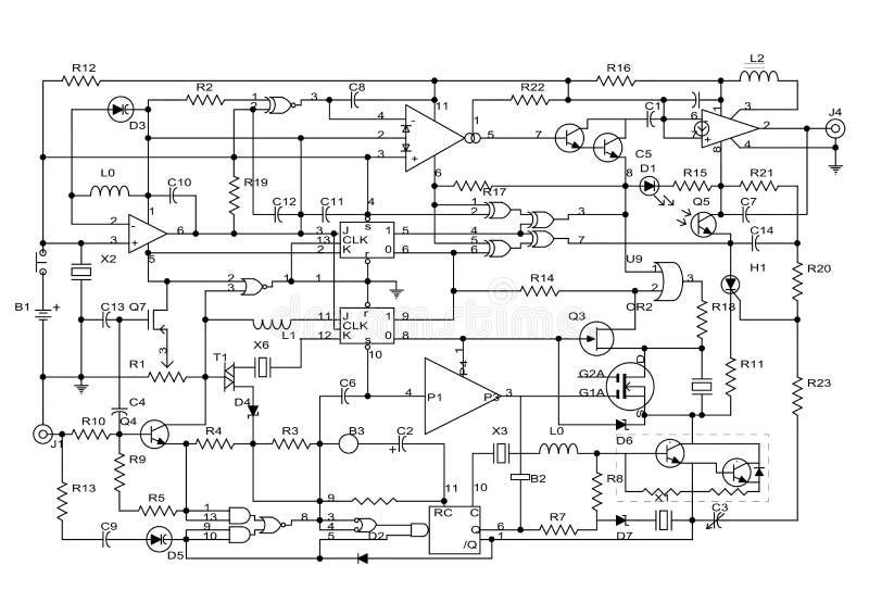 elektroniczny projekt ilustracja wektor