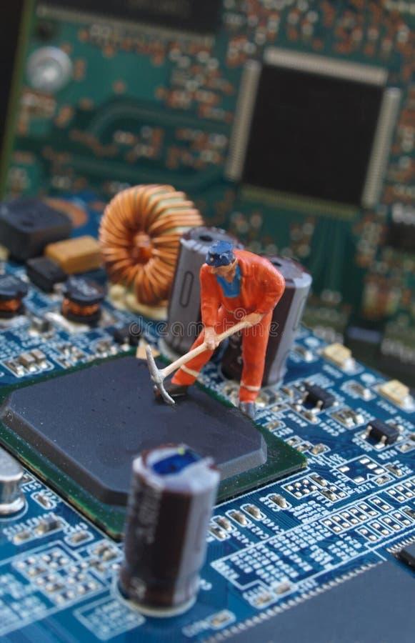 Elektroniczny remontowy warsztat zdjęcie stock