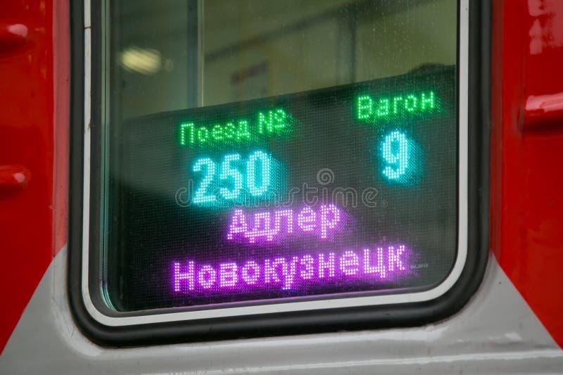 Elektroniczny signboard signboard na samochodzie obrazy stock