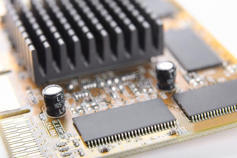 Elektroniczny układ scalony na obwód deski zakończeniu, część komputerowy eq obrazy stock