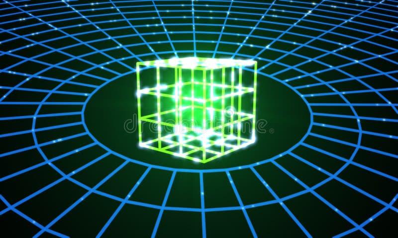Elektroniczny władzy pojęcie, 3d ilustracja wektor