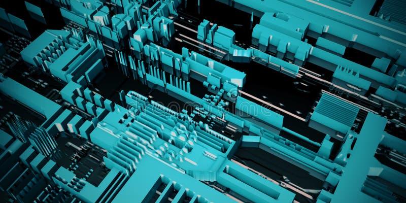 elektroniczny zarządu obwód ilustracja wektor