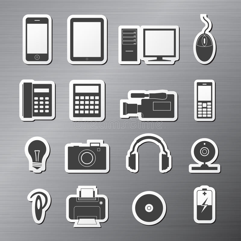 Elektronik stock abbildung