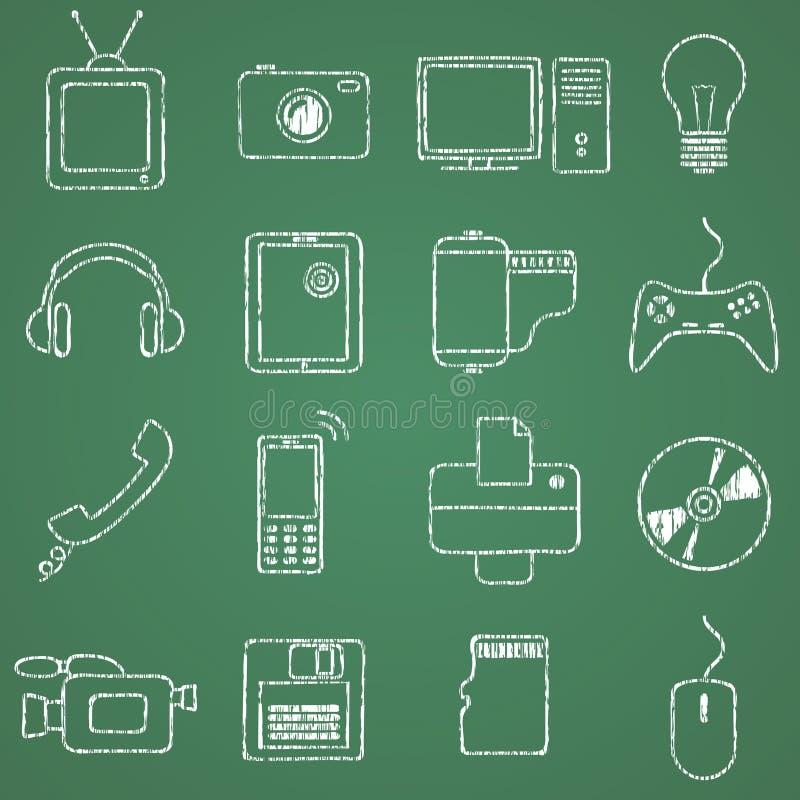 Elektronik vektor illustrationer