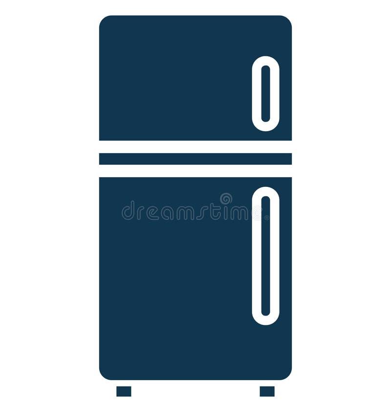 Elektronik frys isolerad vektorsymbol som kan lätt redigeras i något format eller ändras stock illustrationer