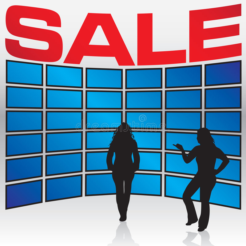 Elektronik-Speicher-Verkauf vektor abbildung