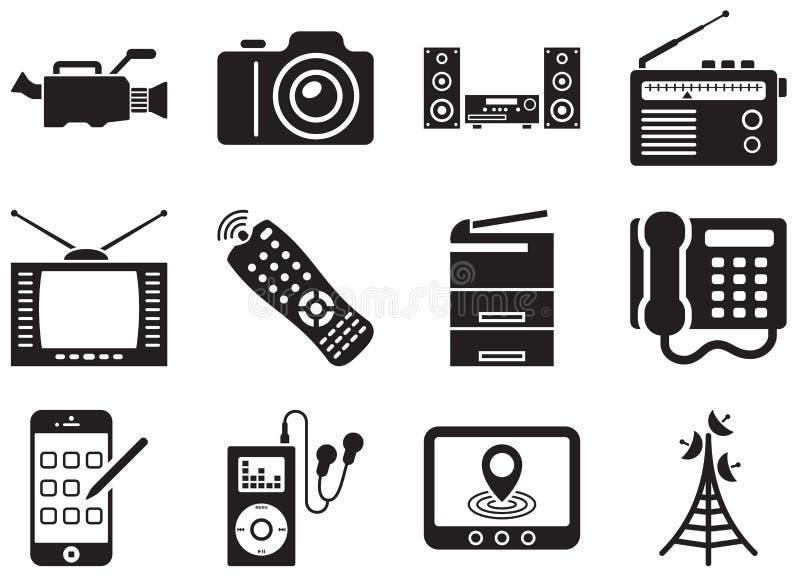 Icon Electronics Srinagar: Elektronika Vector Illustratie. Illustratie Bestaande Uit