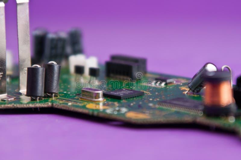 Elektronika, części elektroniczne, części zamienne fotografia stock