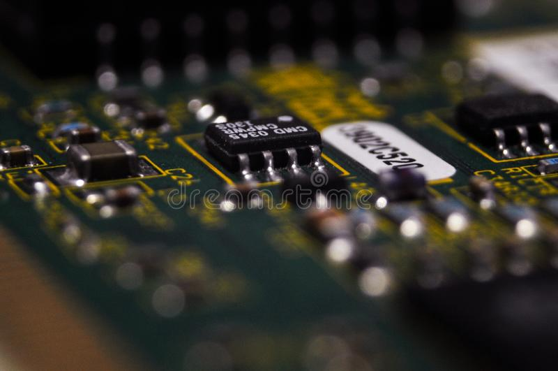 Elektronika, elektronische delen, smd delen stock afbeelding