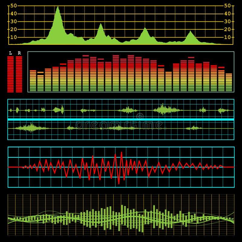 elektronika muzyki fala ilustracja wektor