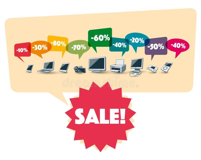 Download Elektronika Robi Zakupy Sprzedaż Rabat Ilustracja Wektor - Ilustracja złożonej z śledzony, pojęcie: 57662412