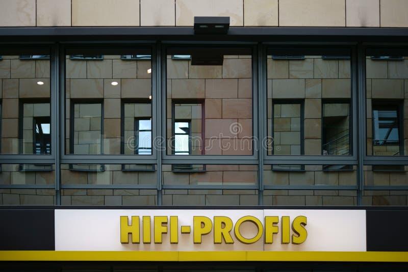 Elektronika sprzedaży Hifi Profis obraz stock