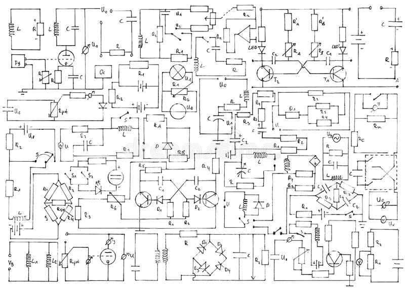 Elektronikhintergrund stockbilder