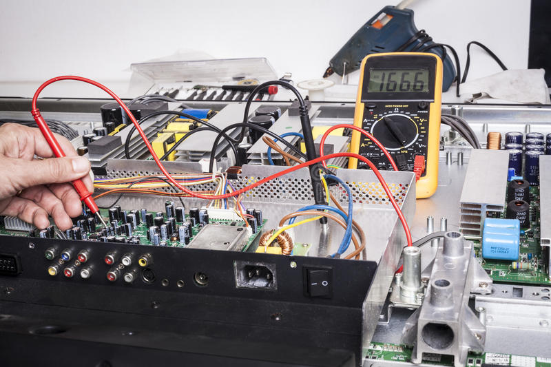 Elektroniki naprawa obraz stock