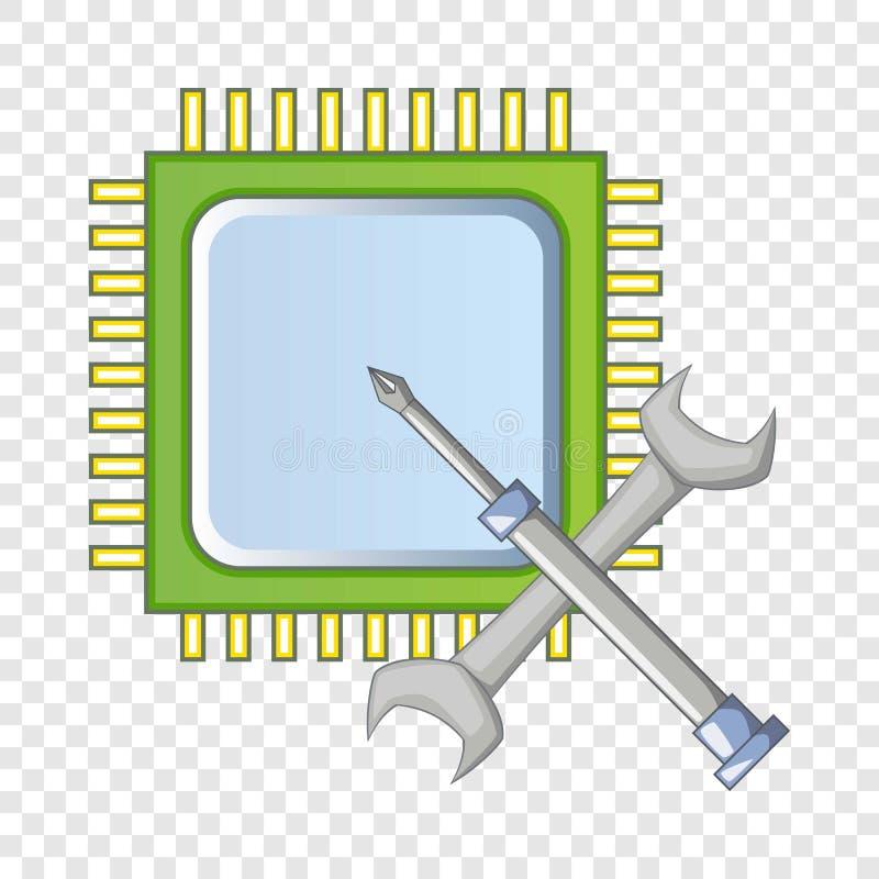 Elektronikreparaturikone, Karikaturart stock abbildung