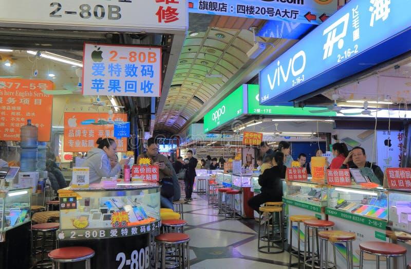 Elektronikshoppinggalleria Shanghai Kina arkivbild