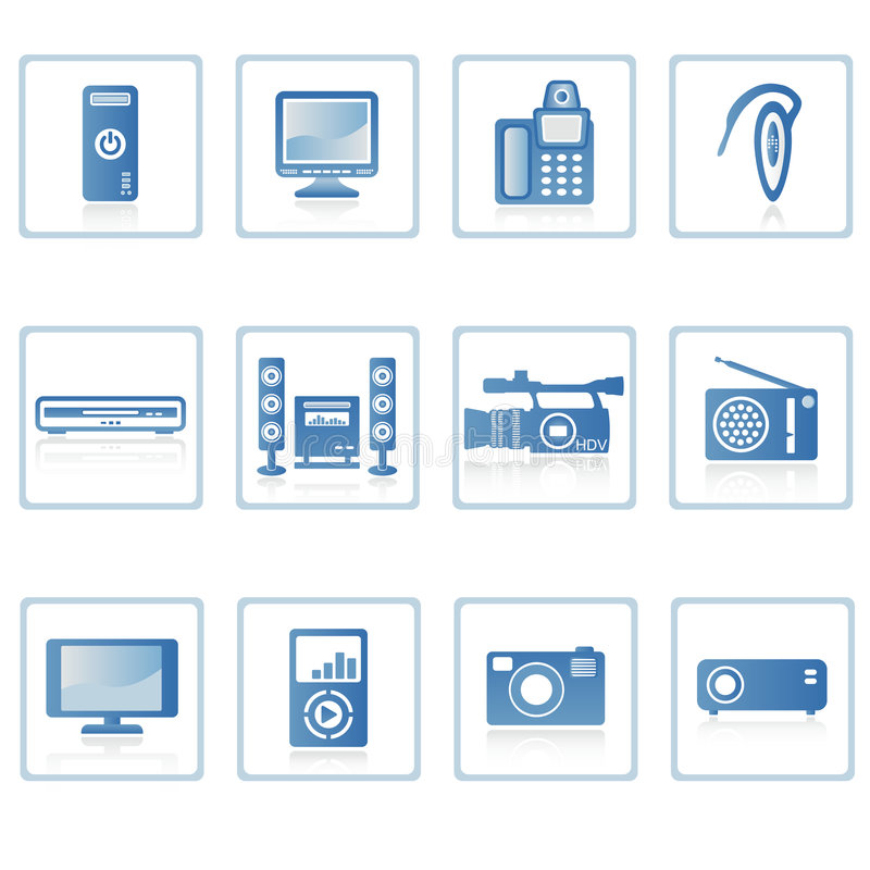 elektroniksymbol ii stock illustrationer