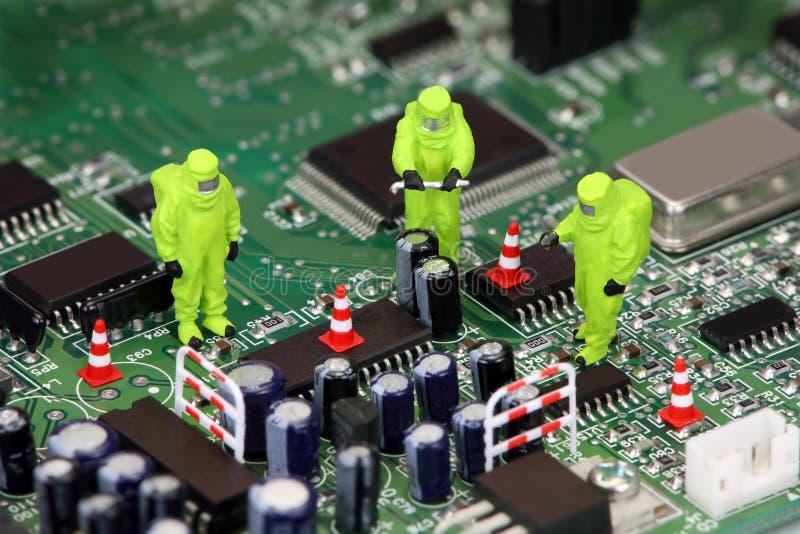 Elektronikwiederverwertung lizenzfreie stockbilder