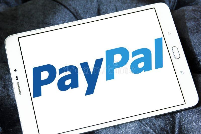 Elektronisch de bankembleem van Paypal stock foto