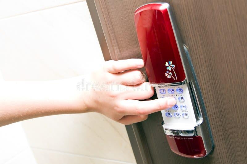 Elektronisch deurslot royalty-vrije stock fotografie