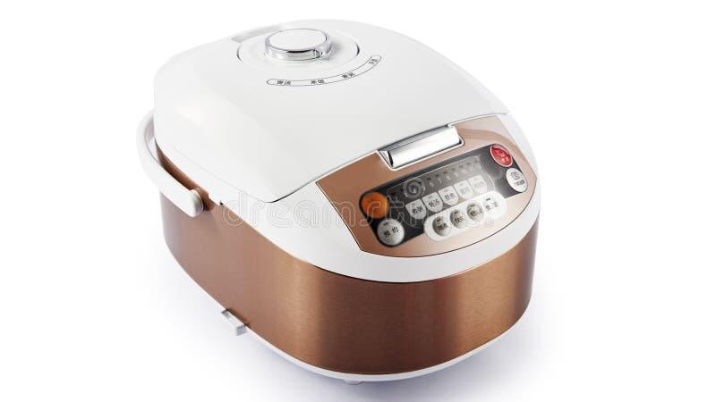 Elektronisch digitaal rijstkooktoestel royalty-vrije stock afbeelding