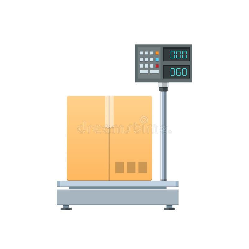 Elektronisch-digitale Frachtskalen Messgerät für Fracht, Kästen, Pakete, Fracht lizenzfreie abbildung