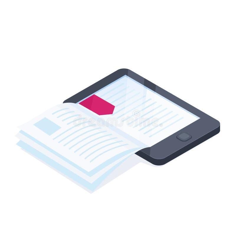 Elektronisch geïsoleerd boek vector illustratie