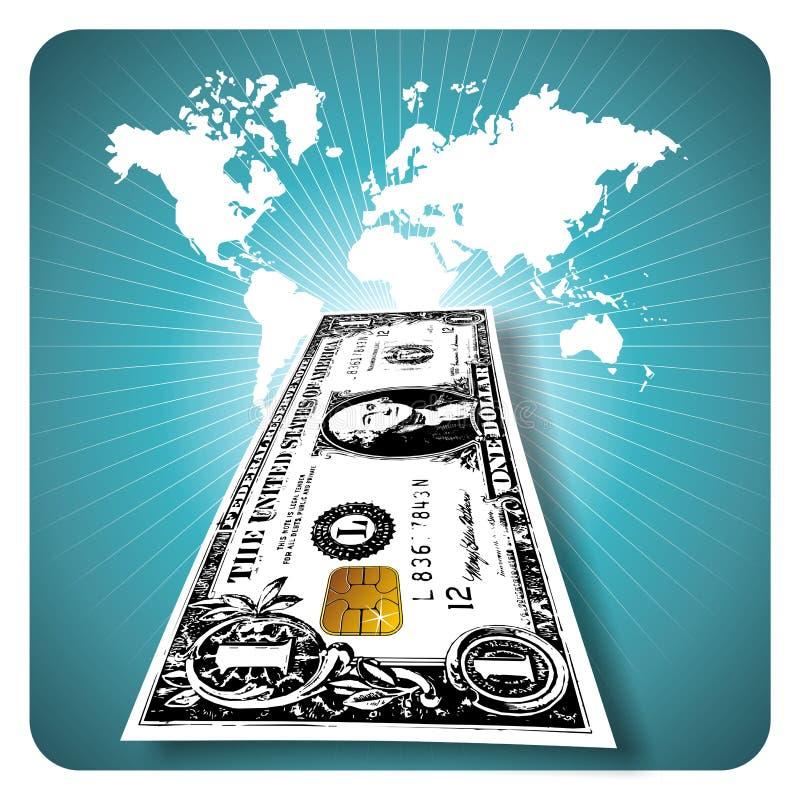 Elektronisch geld stock illustratie