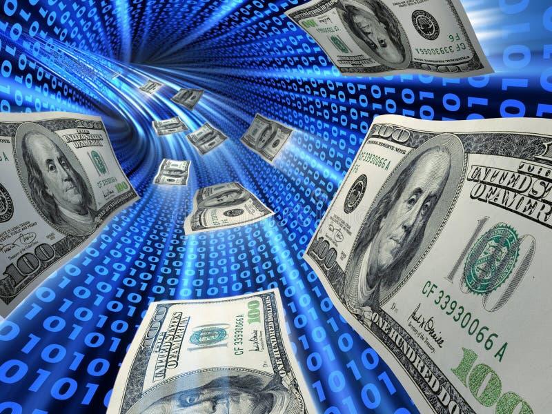 Elektronisch geld stock afbeeldingen