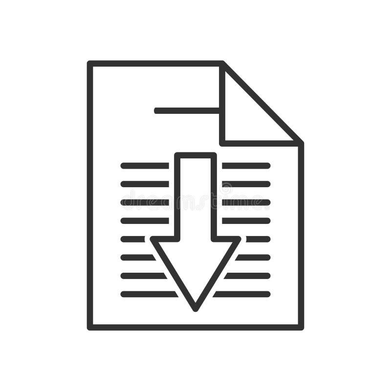 Elektronisch het Overzichts Vlak Pictogram van de Boekdownload royalty-vrije illustratie