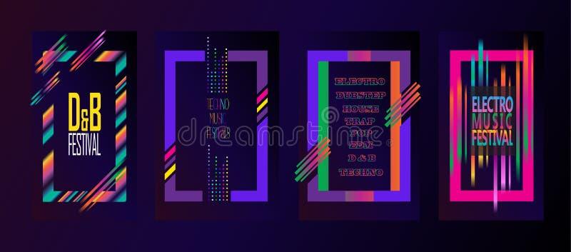 Elektronisch Muziekfestival vector illustratie