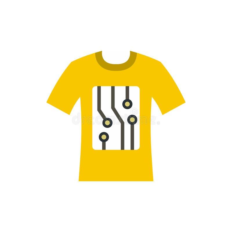 Elektronisch t-shirtpictogram, vlakke stijl royalty-vrije illustratie
