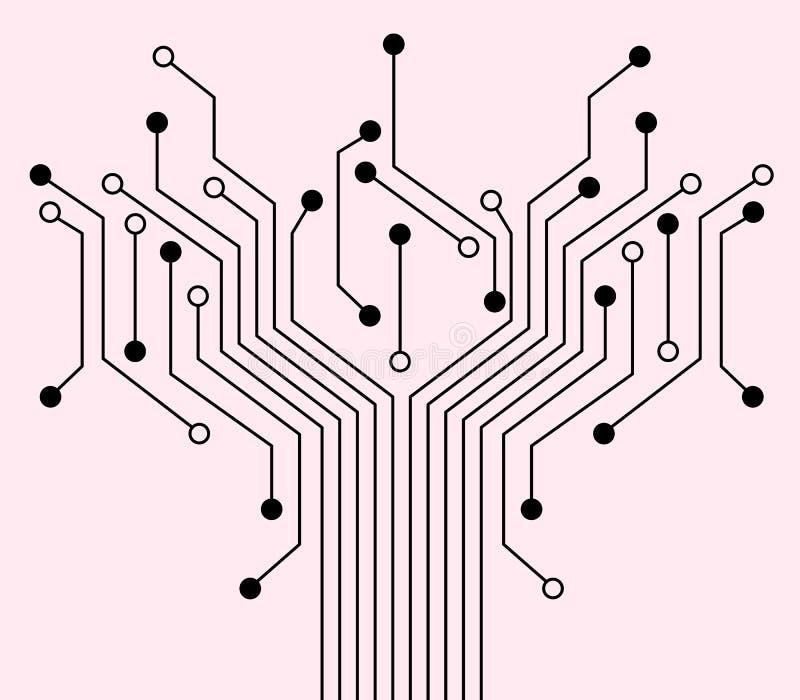 Elektronische achtergrond. vector illustratie