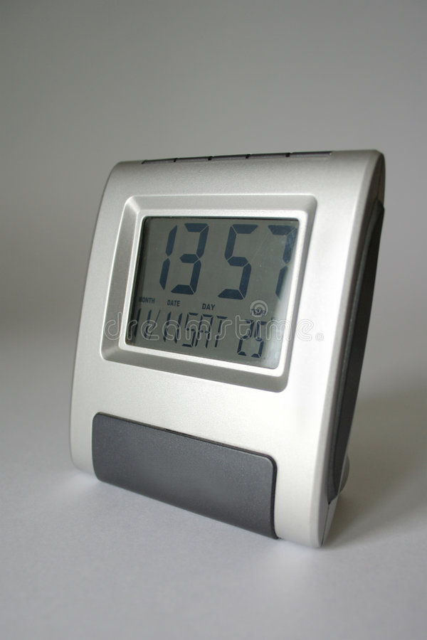Elektronische alarm-klok stock foto