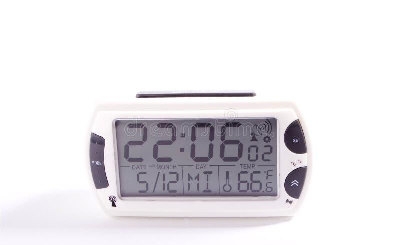 Elektronische Alarmuhr stockbild