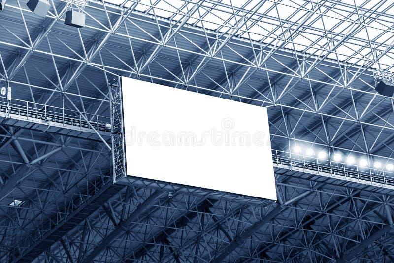 Elektronische Anzeige am Stadion stockfotos