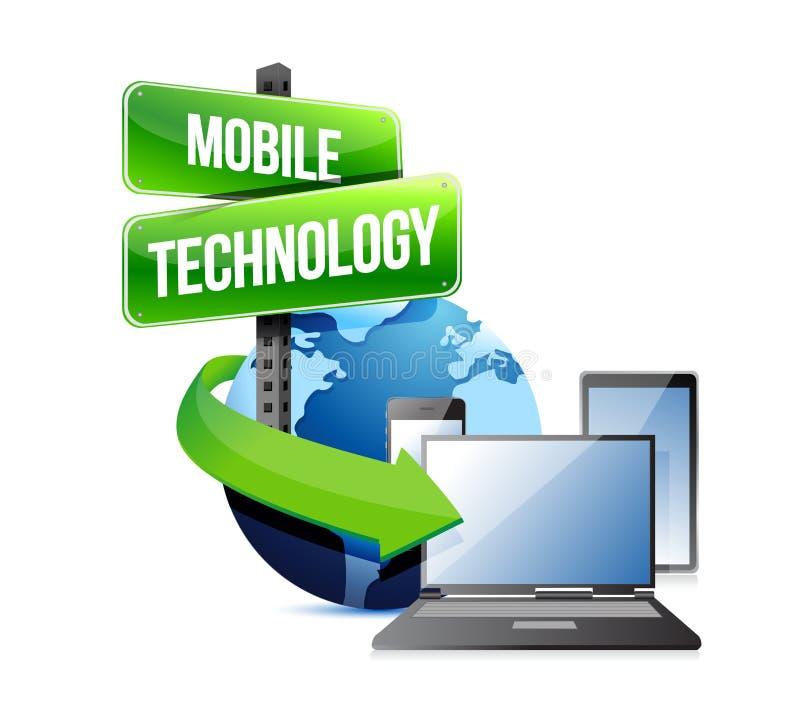 Elektronische apparaten mobiele technologie royalty-vrije illustratie
