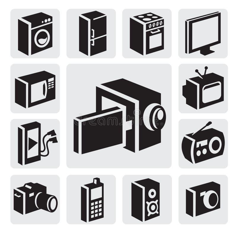 Elektronische apparatenpictogrammen vector illustratie