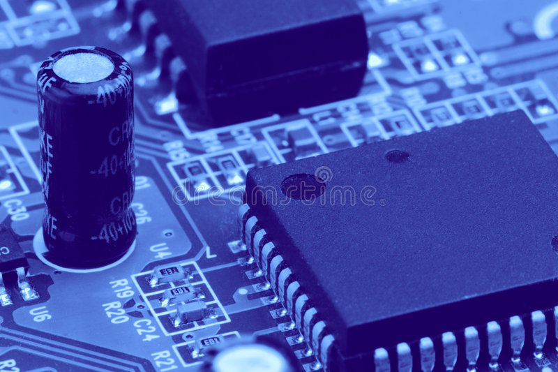Elektronische Bauelemente lizenzfreie stockbilder