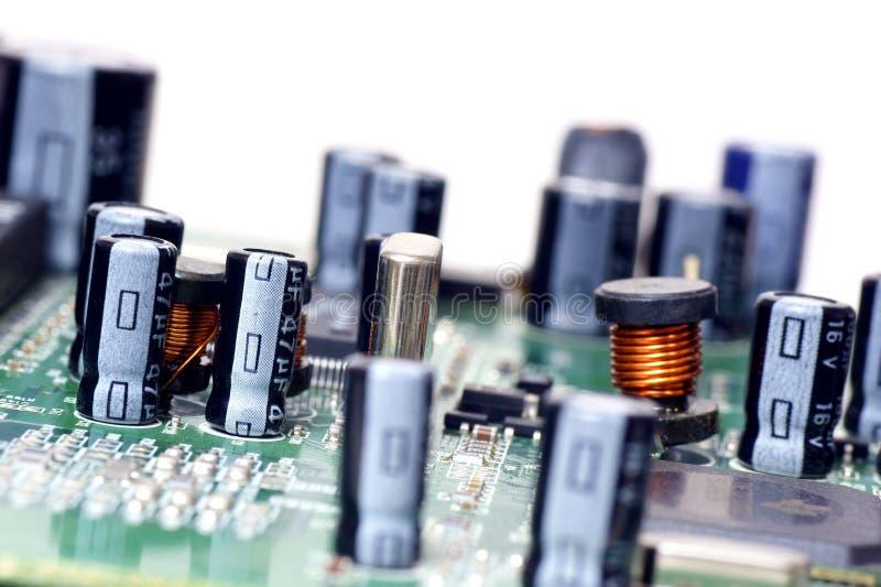 Elektronische componenten stock afbeeldingen