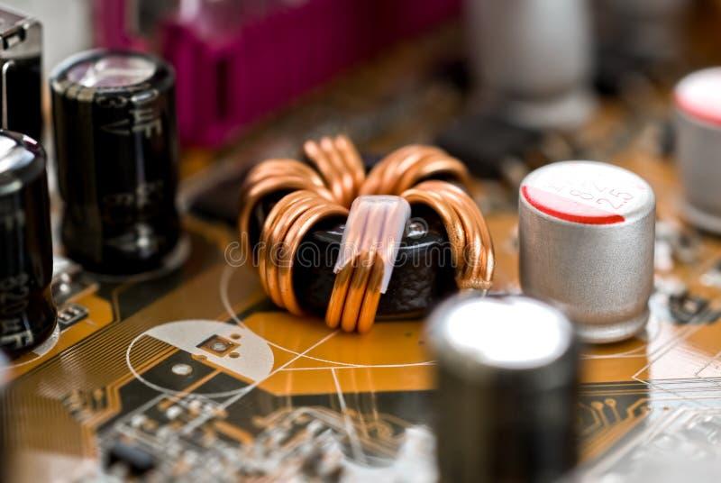 Elektronische componenten royalty-vrije stock afbeeldingen