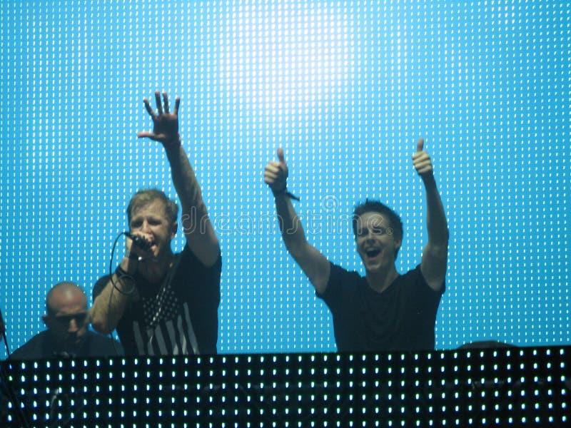 Elektronische Dansmuziek DJs royalty-vrije stock foto