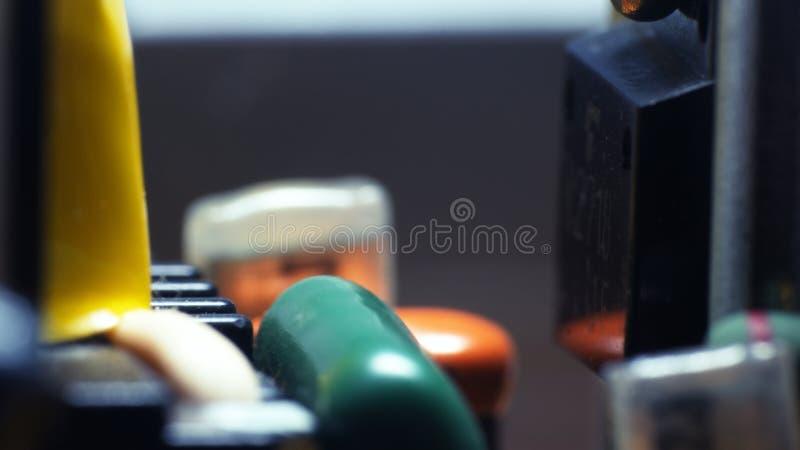 elektronische de Raads ultramacro van de printercontrole stock afbeelding